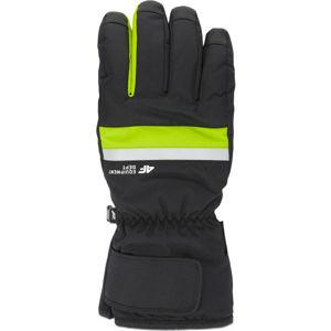 4F SKI GLOVES světle zelená S - Lyžařské rukavice