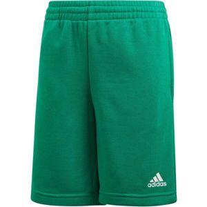 adidas YOUTH BOYS LOGO SHORT zelená 140 - Chlapecké šortky