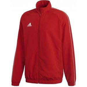 adidas CORE18 PRE JKT červená L - Sportovní pánská bunda