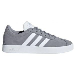 adidas VL COURT 2.0 K šedá 3 - Dětská volnočasová obuv