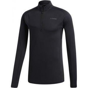 adidas TRACE ROCKER 1/2 LS černá 50 - Pánské sportovní triko