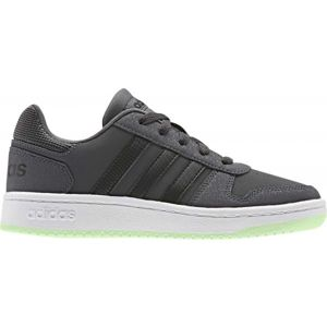 adidas HOOPS 2.0 K šedá 3.5 - Dětská volnočasová obuv