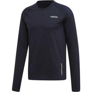adidas MENS GEAR UP LONGSLEEVE TEE tmavě modrá S - Pánské tričko