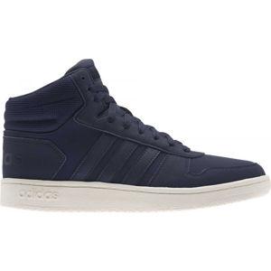 adidas HOOPS 2.0 MID modrá 9.5 - Pánská volnočasová obuv