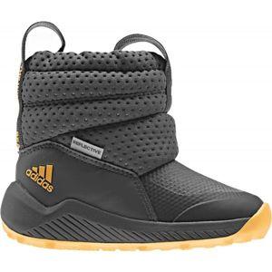 adidas RAPIDASNOW I tmavě šedá 22 - Dětská zimní obuv