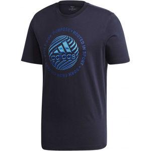 adidas M HYPRRL SLGN T tmavě modrá 2XL - Pánské tričko