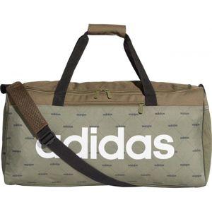 adidas LIN DUF MG tmavě zelená NS - Sportovní taška