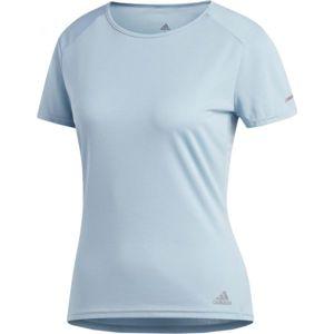adidas RUN TEE W modrá M - Dámské běžecké tričko