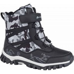 ALPINE PRO MIRELO černá 33 - Dětská zimní obuv