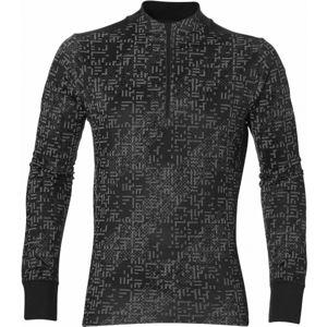 Asics LITE-SHOW 1/2 ZIP černá L - Pánské sportovní triko