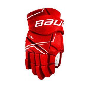 Bauer NSX GLOVES JR červená 11 - Juniorské hokejové rukavice