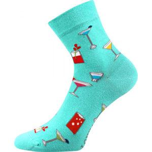 Boma PATTE 043 modrá 39 - 42 - Vysoké ponožky