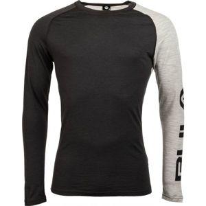 Bula ATTITUDE MERINO WOOL CREW černá XL - Pánské triko s dlouhým rukávem