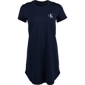 Calvin Klein S/S NIGHTSHIRT černá XS - Dámská noční košile
