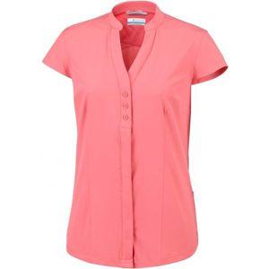 Columbia SATURDAY TRAIL STRETCH SS SHIRT růžová M - Dámská košile s krátkým rukávem