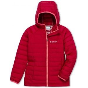 Columbia POWDER LITE GIRLS HOODED JACKET červená XXS - Dívčí bunda