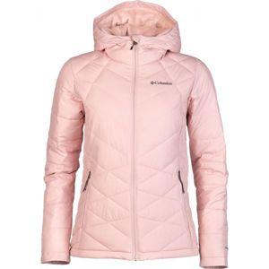 Columbia HEAVENLY HOODED JACKET světle růžová XL - Dámská zimní bunda