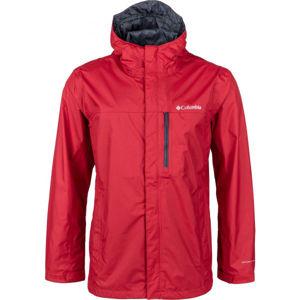 Columbia MENS POURING ADVENTURE červená M - Pánská outdoorová bunda