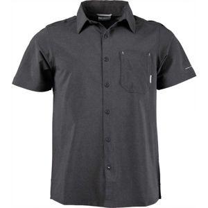 Columbia TRIPLE CANYON SHORT SLEEVE SHIRT černá S - Pánská outdoorová košile