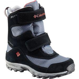 Columbia YOUTH PARKERS PEAK VELCRO BOOT šedá 12 - Dětská outdoorová obuv