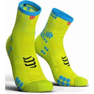 Compressport RACE V3.0 RUN HI žlutá T3 - Běžecké ponožky
