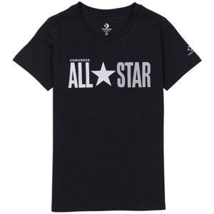 Converse ALL STAR SHORT SLEEVE CREW T-SHIRT černá M - Dámské tričko