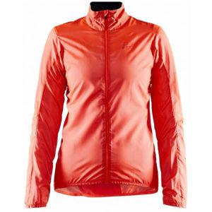 Craft ESSENCE oranžová L - Dámská ultralehká cyklistická bunda