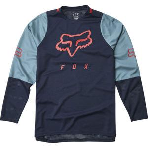 Fox DEFEND LS JR modrá M - Dětský dres