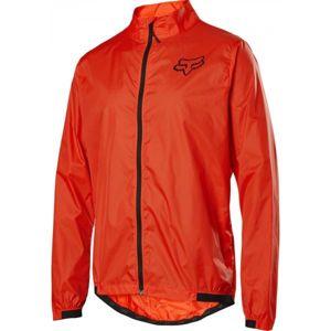 Fox DEFEND WIND JACKET oranžová M - Pánská bunda na kolo