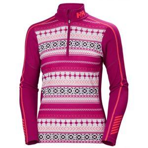 Helly Hansen LIFA ACTIVE GRAPHIC 1/2 ZIP růžová S - Dámské funkční triko