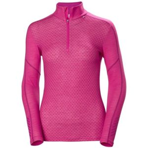 Helly Hansen LIFA MERINO GRAPHIC 1/2 ZIP růžová M - Dámské triko