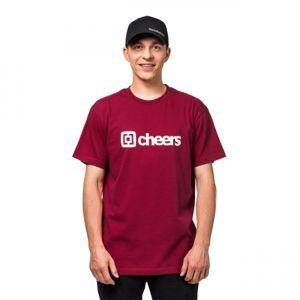 Horsefeathers SKAL T-SHIRT červená L - Pánské tričko
