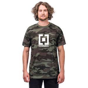 Horsefeathers BASE T-SHIRT tmavě zelená S - Pánské tričko
