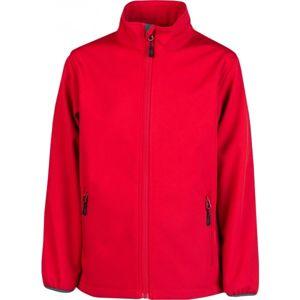Kensis RORI JR červená 116-122 - Chlapecká softshellová bunda