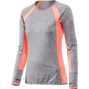Klimatex DORINA šedá S - Dámské běžecké tričko s dlouhým rukávem