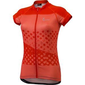 Klimatex JETTE oranžová S - Dámský cyklistický dres se sublimačním potiskem