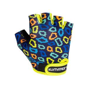 Klimatex KOTTE tmavě modrá 10 - Dětské cyklistické rukavice