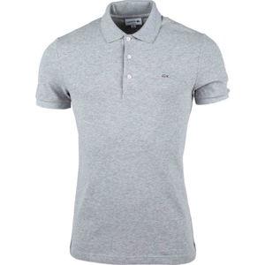Lacoste SLIM SHORT SLEEVE POLO šedá M - Pánské polo tričko