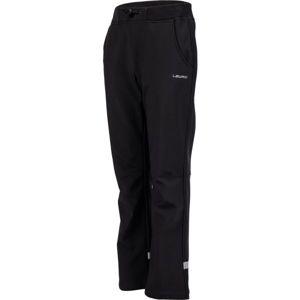 Lewro CARNO černá 116-122 - Dětské softshellové kalhoty