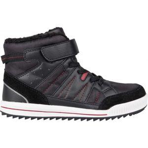 Lewro CUBIQ II tmavě šedá 26 - Dětská zimní obuv