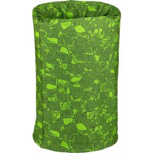 Lewro ZIKIRO zelená UNI - Dětský multifunkční šátek