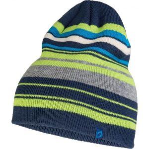 Lewro ENRICO zelená 4-7 - Chlapecká pletená čepice