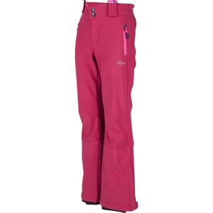 Lewro LONDON 116-134 růžová 116-122 - Dívčí lyžařské softshellové kalhoty