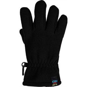 Lewro NARINDER černá 8-11 - Dětské fleecové rukavice