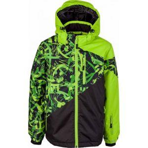 Lewro PHIL zelená 164-170 - Chlapecká zimní bunda