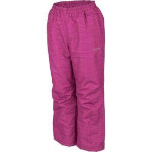 Lewro NOY fialová 140-146 - Dětské zateplené kalhoty