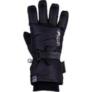 Lewro PRIMO černá 4-7 - Dětské lyžařské rukavice