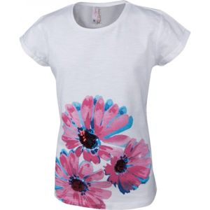 Lewro OLIVIE bílá 116-122 - Dívčí triko s krátkým rukávem