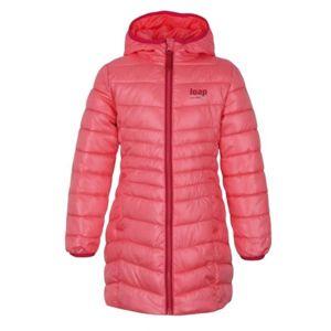 Loap IKIMA růžová 158-164 - Dívčí zimní kabát