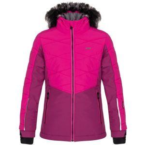 Loap OKUMA růžová 128 - Dětská lyžařská bunda